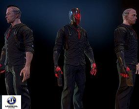 Cyberpunk detective 3D asset