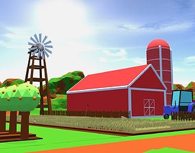 3D asset animated SimplePoly Farm Set for Games