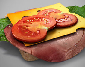 Realistic Juicy Sandwitch 3D