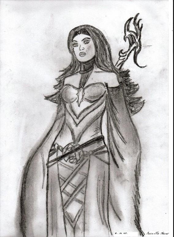 Sabine the mage warrior