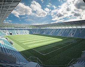 european European Soccer Football Stadium 3D model