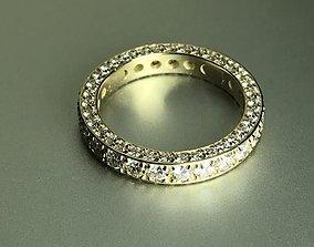 3D print model eternity diamond band ring