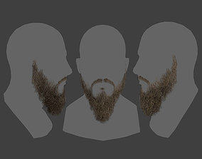 3D model Low poly realistic Realtime Beard