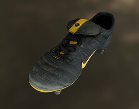 realtime Soccer shoe low poly 3D model