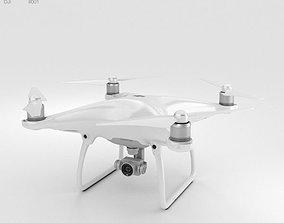 3D DJI Phantom 4 Camera Drone