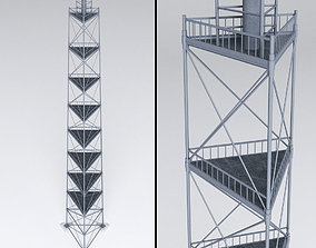 Scaffolding radio tower power 3D model