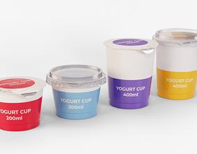 Yogurt Cups Collection 3D