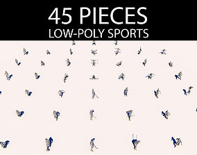 People Doing Sports Pack 3D model