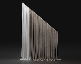 Curtain Biege-13 3D