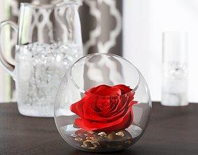 Rose Floral Arrangement in Pot 3D
