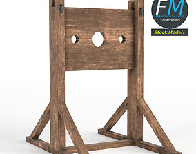 3D Medieval pillory