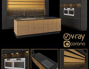 Kitchen 01 3D model VR / AR ready