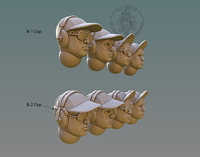 3D printable model Pilot Head With B-Cap