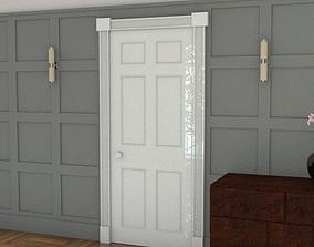 six panel door 3D asset