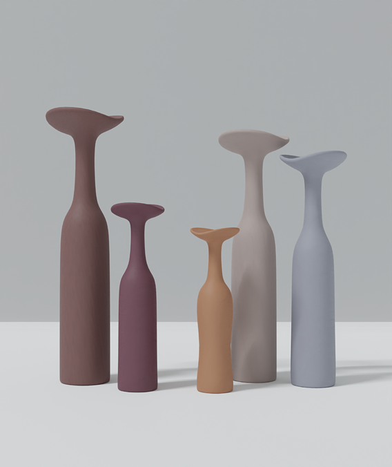 Abstract Clay Vases