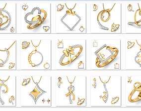 150 Ring Earrings Pendant 3dm Matching Bulk