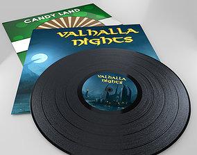 3D asset Vinyl Record