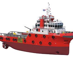 48m AHTS Anchor Handling Tug 3D model