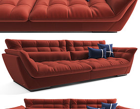 3D 4 seat Sofa Bed Red Sophia