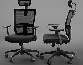 Office chair CH-133 wiz high black 3D model