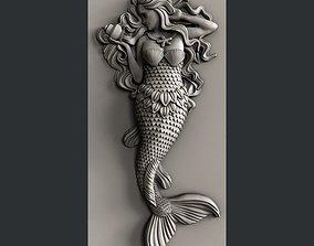 3d STL models for CNC mermaid