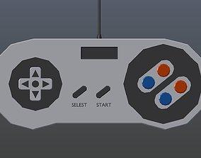 3D asset Low poly Game Controller