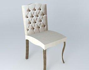 Linen chair CHLOE houses the world 3D model