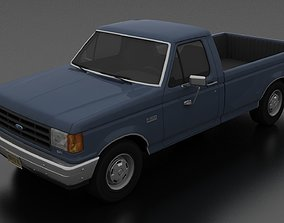 3D model F-150 Custom Pickup Regular Cab 1987