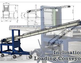 3D animated Inclination Loading Conveyor