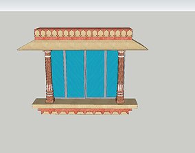 animated indian jodhpuri stone jharokha 3d 1