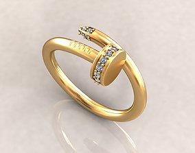 3D printable model Pin ring for women