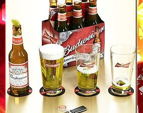 3D model Budweiser Beer Collection