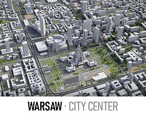 3D asset Warsaw - Warszawa