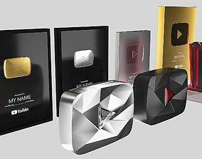 Youtube Awards 3D asset