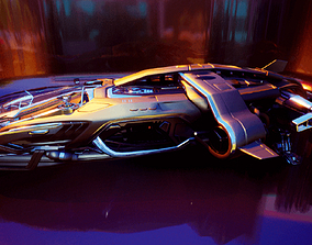3D Arrow Carbine Spaceship