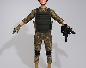 3D Soldier rifle