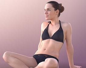 3D asset Juliette 10828 -Sitting Bikini Girl