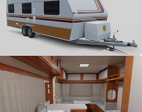 3D asset Karmann Guia Kc - Interior