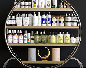 A set of cosmetics for beauty salons 3D