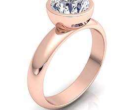 Solitaire Ring 21 3D print model