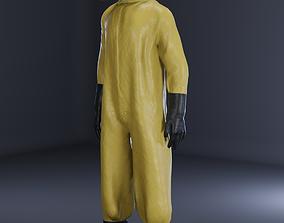 3D model Man in hazmat suit