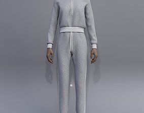 female joggers - hoodie sweater and 3D