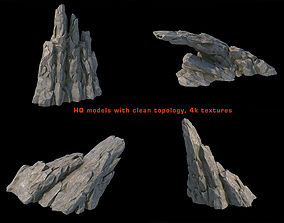 V-Ray render ready fantasy rocks kit 3D asset