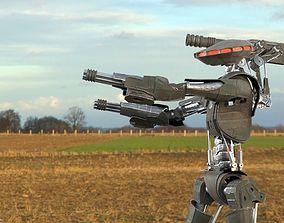 Robot Sky-Fi Riging model PBR texture animated