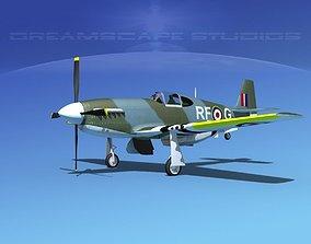 North American Mustang X RAF V09 3D model