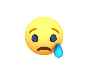3D asset Animated Facebook Sad Reaction Button