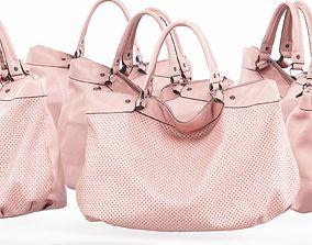 3D asset Pink Leather Handbag