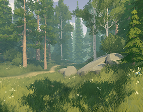 3D asset animated Stylized Nature Vol 01