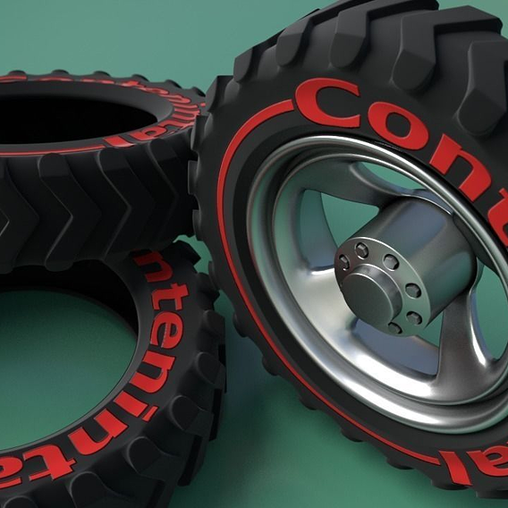 Wheel for a jeep.