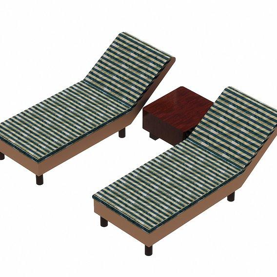 Bed Set, Type-1   3d Model   free